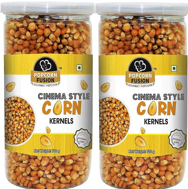 Popcorn Fusion Corn Kernels for Popcorn-Combo Pack(700g*2)-1400g at Rs.399