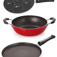 Nirlon Non-Stick Chemical Free Non-Induction 3 Piece Kitchen Essential Offer at Rs.711