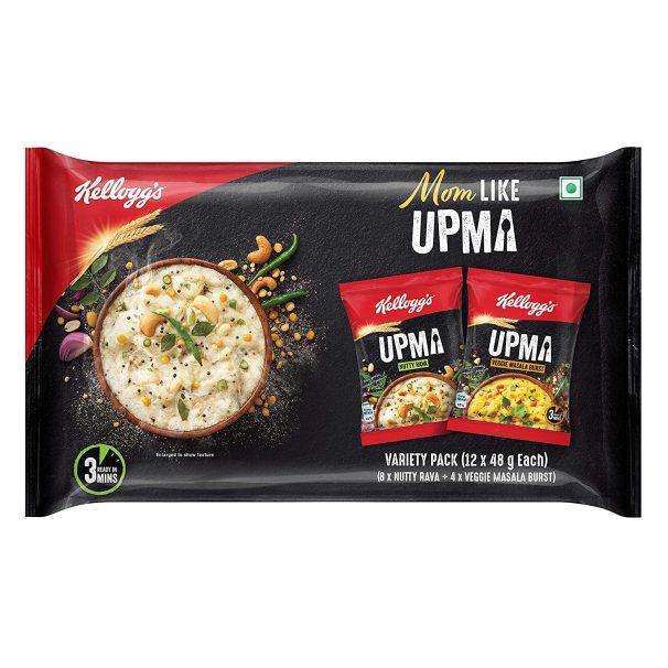 Kellogg's Upma Variety Pack, 576g (48g x 12) at Rs.192