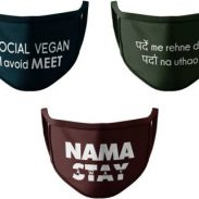 HashBean 2 Layer Everyday Reusable Cloth Mask (Multicolor, Free Size, Pack of 3) at Rs.59