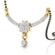 ISKI USKI 18 KT (750) Yellow Gold Diamond Studded Mangalsutra | 18 Kt at Rs.11817