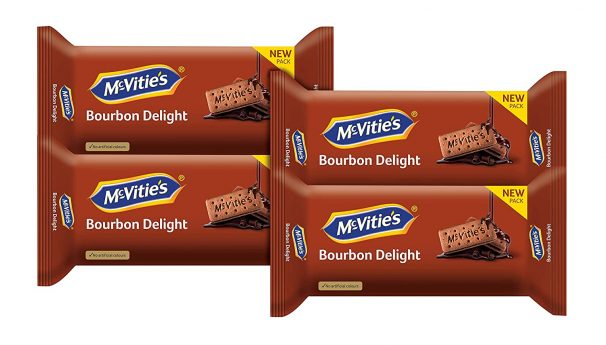 Mcvities Bourbon Combi 2+1, 300gm (Pack of 4) at Rs.161.36