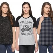 SHAUN 69GAL Women Round Neck T-Shirt(Pack of 3) at Rs.799