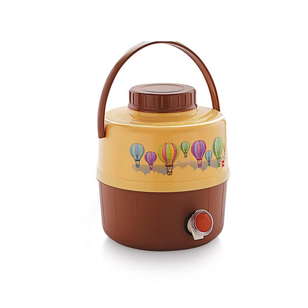 Cello Travel Star Plastic Insulated Water Jug, 16 litres, Beige at Rs.529