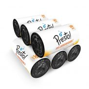 Amazon Brand - Presto! Oxo-Biodegradable Garbage Bags, Small (17 x 19 inches) - 30 bags/roll (Pack of 6, Black) at Rs.249