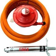 icon Original LPG Gas Stove Adaptor with 1.5 Meter Steel Hose Pipe with 2 Clamps at Rs.499