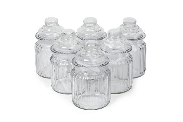 350 ml Glass jar with Air Tight Lid Masala Storage Glass Jar (2) at Rs.249